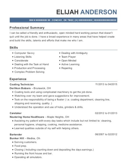 front of house resume