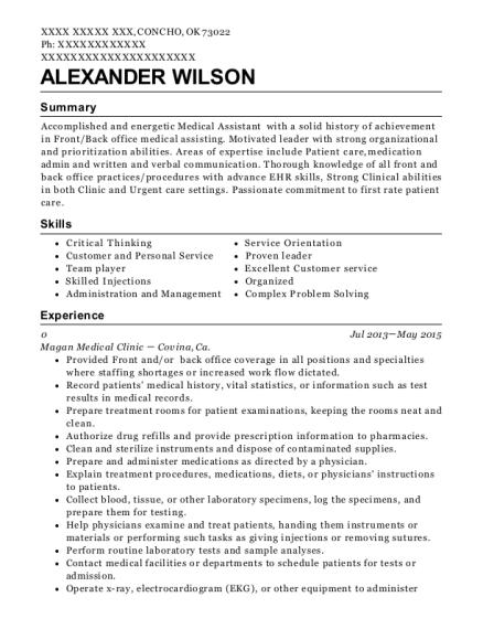 best advanced medical assistant resumes resumehelp
