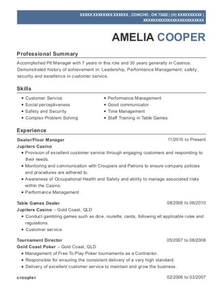 Best Casino Supervisor Resumes | ResumeHelp