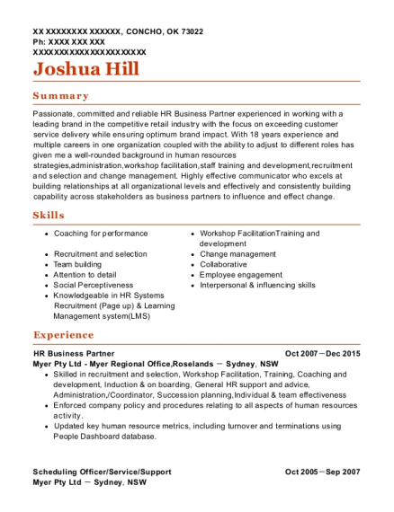 View Resume. HR Business Partner  Hr Business Partner Resume