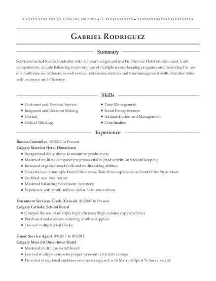calgary marriott hotel downtown rooms controller resume sample
