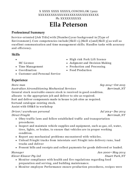 purchasing officer resumes