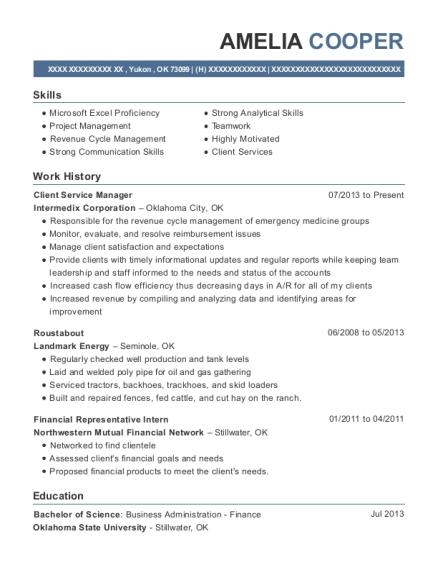 Best Financial Representative Intern Resumes | ResumeHelp