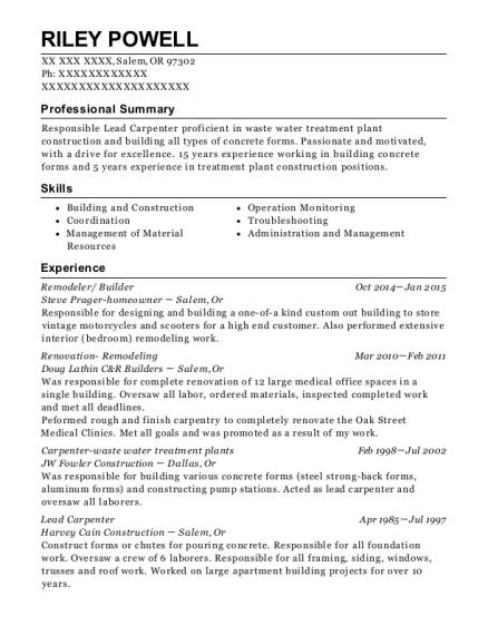 distinctive cabinet design frame builder resume sample