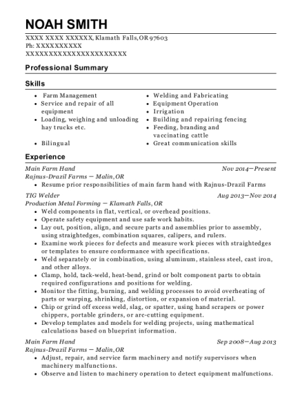 Self Employed Farmer Farming Resume Sample Clio Iowa Resumehelp - Farmer-resume