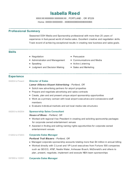 Best Sponsorship Sales Consultant Resumes | ResumeHelp