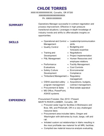 Best Operations & Log Procurement Manager Resumes | ResumeHelp