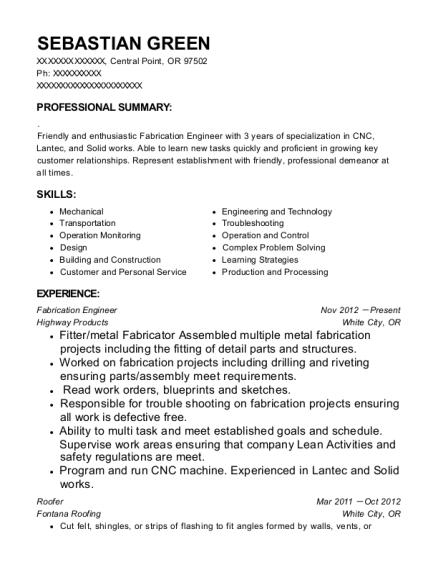 best fabrication engineer resumes resumehelp