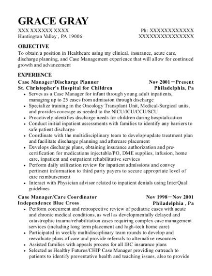 best discharge planner resumes resumehelp