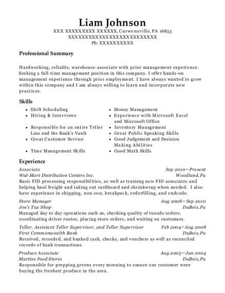 Best Assistant Teller Supervisor Resumes Resumehelp
