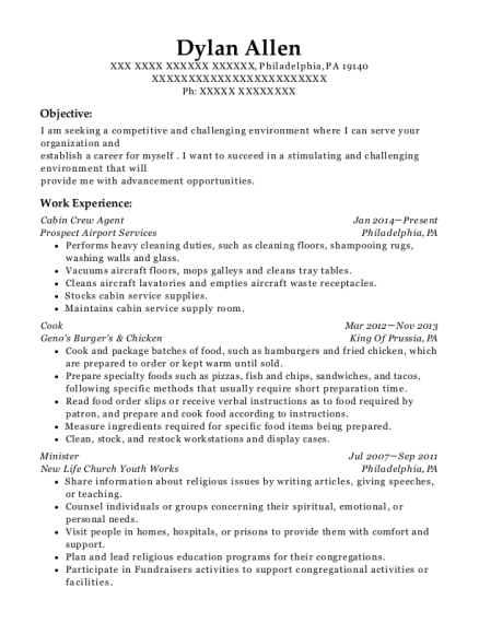 qatar airways cabin crew resume sample