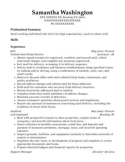 self employed property manager landlord resume sample