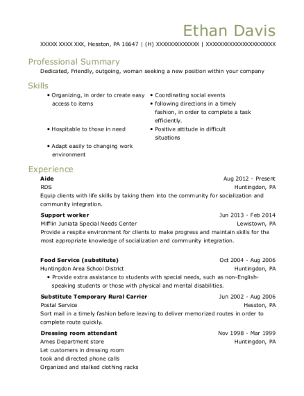 View Resume. Aide