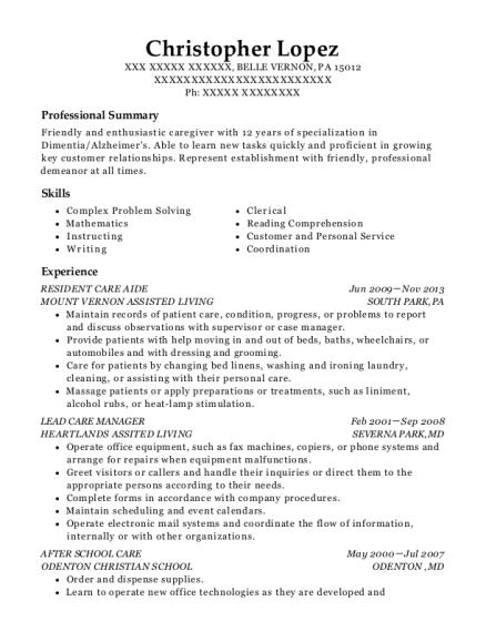 Best Lead Care Manager Resumes | ResumeHelp
