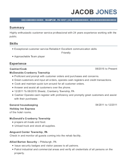 best general housekeeping resumes resumehelp