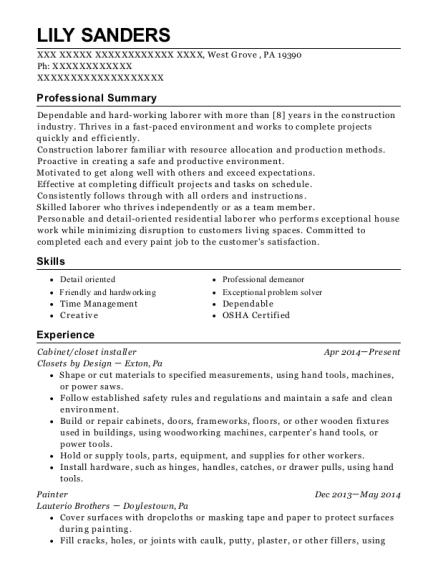 best closet installer resumes resumehelp