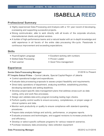 people also search for customize resume view resume senior data processing manager - Data Processing Manager Sample Resume