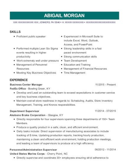 Best Business Center Manager Resumes | ResumeHelp
