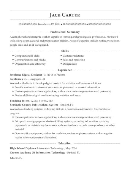 best freelance digital designer resumes resumehelp