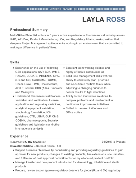 Project Coordinator , Regulatory Compliance Specialist. Customize Resume ·  View Resume
