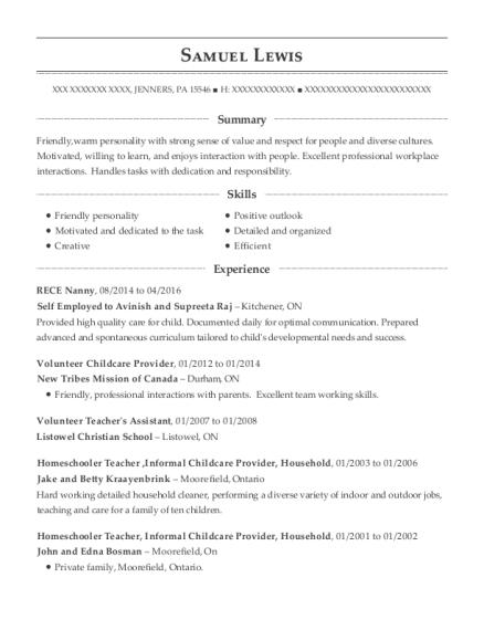 best volunteer childcare provider resumes resumehelp