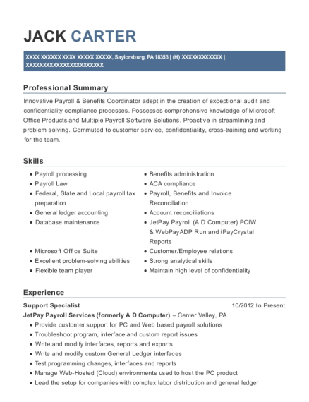 View Resume. Support Specialist