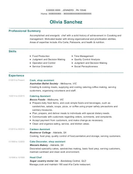 Best Canteen Assistant Resumes | ResumeHelp