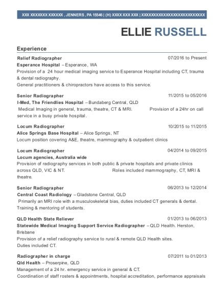 Radiographer resume sample resume for radiographer creative resume southernex imaging group senior radiographer resume sample yelopaper Gallery