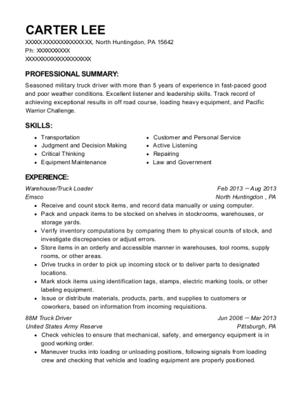 warehouse loader resume images resume format examples 2018