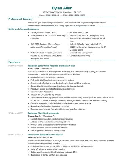 best registered client service associate resumes resumehelp