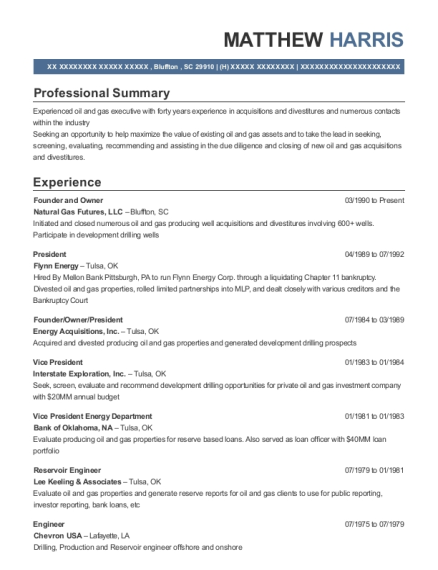 Best Reservoir Engineer Resumes | ResumeHelp