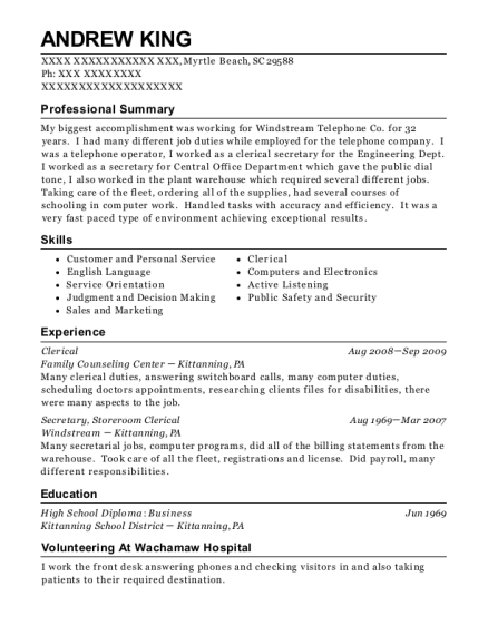 Best Reservationist Resumes in Myrtle Beach South Carolina   ResumeHelp