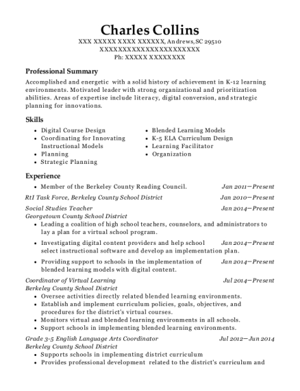 Best Teaching American History Grant Facilitator Resumes Resumehelp