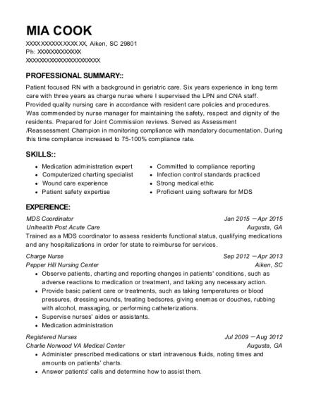 Best Mds Coordinator Resumes | ResumeHelp