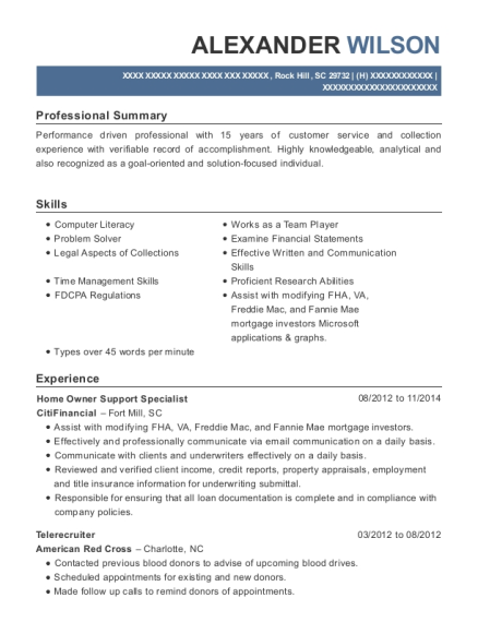 View Resume. Home Owner Support Specialist