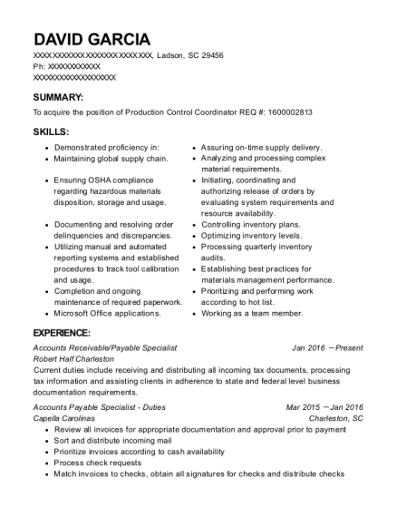 David Garcia  Accounts Receivable Specialist Resume