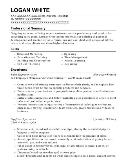 Pipefitter Apprentice , Advertising Sales Consultant. Customize Resume ·  View Resume