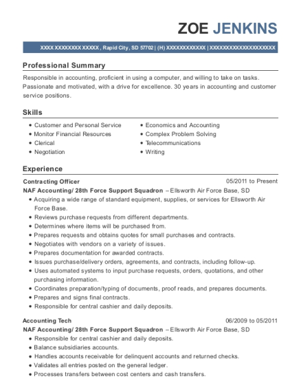 View Resume. Contracting Officer