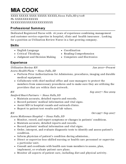 Utilization Review RN , RN Case Manager. Customize Resume · View Resume