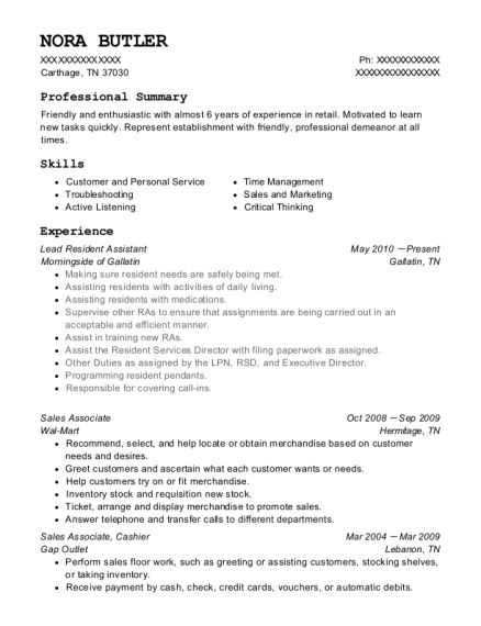 People Also Search For. Customize Resume · View Resume. Lead Resident  Assistant