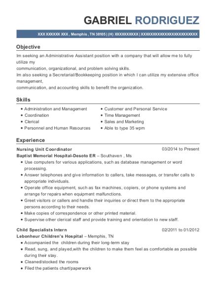 Best Nursing Unit Coordinator Resumes | ResumeHelp