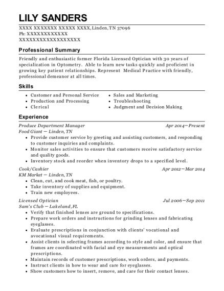 Best Licensed Optician Resumes | ResumeHelp