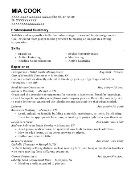 Best Lawn Caretaker Resumes ResumeHelp