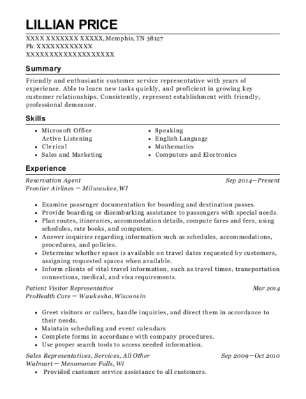 best patient access representative resume sample images gallery