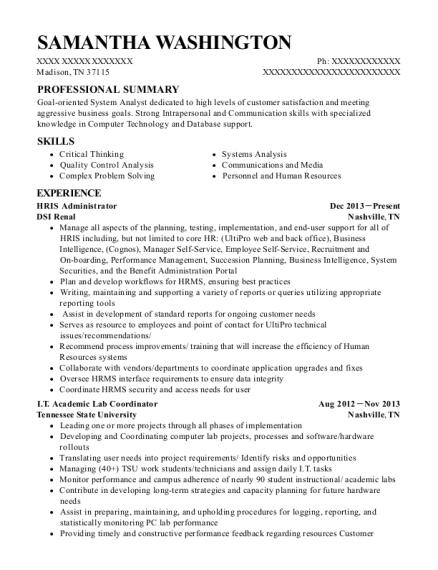Best Hris Administrator Resumes   ResumeHelp