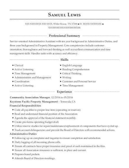 Best Community Association Manager Resumes | ResumeHelp