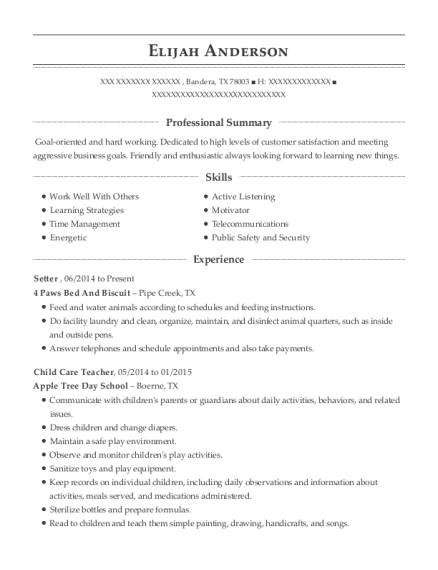 elijah anderson - Appointment Setter Resume Sample