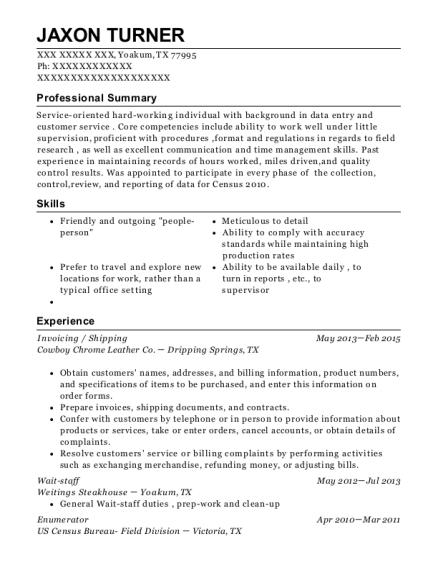 best census and enumerator resumes resumehelp