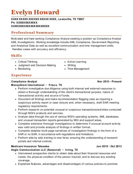 Best Compliance Analyst Resumes | ResumeHelp