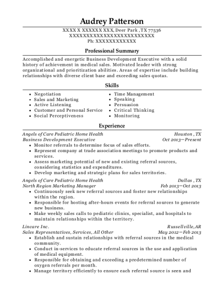 View Resume. Business Development Executive